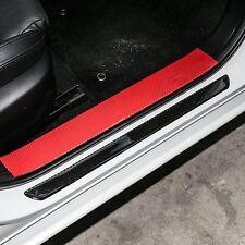 2x Carbone Fibre Érafler Plate Rear par Seuil Cover Panel Étape Protecteur Guard