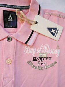 NWT NEW GAASTRA 100% Cotton Pink Men's Golf Polo Shirt Short Sleeve Athletic M L