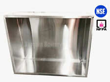 """120"""" X 48"""" 10' Ft Economy Condensate Hood Steam Removal for Dishwasher Brewery"""