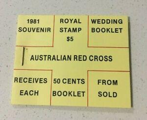 MAD739) Australia 1981 Royal Wedding Souvenir Red Cross Stamp Booklet MUH