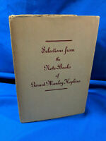 Selections from the Note-Books of Gerard Manley Hopkins 1937 HC DJ