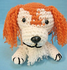 Amigurumi Red Mixed Breed Puppy Dog Crochet Handmade Figurines Gifts by Bren