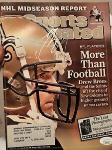Drew Brees Signed Sports Illustrated NO Saints  NFL HOF Jsa  Coa