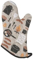 NOW DESIGNS Oven Mitt Camp Cookout NWT 100% Black