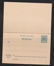 entier postal  carte réponse payée Allemagne 5 pfennig Deutsches Reichspost neuf