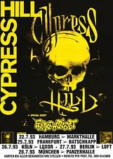 "TOUR POSTER~Cypress Hill Ft. Funkdoobiest 1993 Germany Concert Original 24x34""~"
