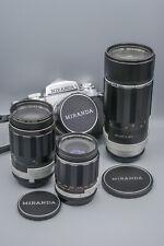 MIRANDA Sensomat RE 50mm f1,9 +35mm f2.8 + 200mm f3,5 + 135mm f/2,8 Complete set