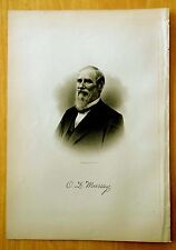 Antique Print 1885 ORLANDO DANA MURRAY Nashua, NH STEEL ENGRAVING Portrait