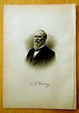 Antique Print 1885 ORLANDO DANA MURRAY Nashua, NH STEEL ENGRAVING Portrait