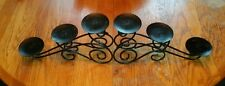Iron Centerpiece or Fireplace Pillar Candle Holder for 6 Candles