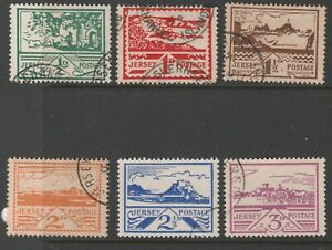 Jersey 1943 Pictorial Issue, Fine Used (6)
