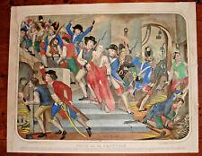 Grande Lithographie France Prise de la Bastille 1789 - NAPOLÉON THOMAS-67/54CM