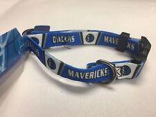Dallas Mavericks Adjustable Nylon Dog Collar, Size Small, Ships Free