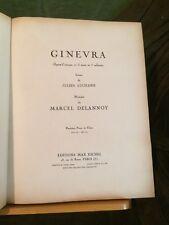 Delannoy Ginevra opéra partition chant piano reliée éditions Eschig