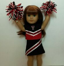 "Doll Clothes fits 18"" American Girl Texas Tech University Cheerleader Outfit"