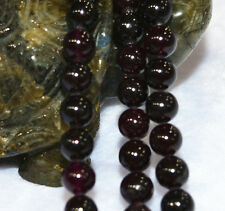 AAA+8mm Sri Lanka Red Garnet (jade) Gemstone Round Loose Bead 15''