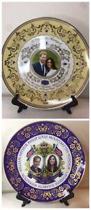 English Royal Family Wedding Plate Lot Prince William&Kate Prince Harry&Meghan