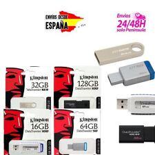PENDRIVES MEMORIAS USB FLASH 2.0 3.0 KINGSTON DATATRAVELER 16GB 32GB 64GB 128GB