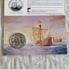 Portugal 1992 escudos 200 de plata BU Cristóbal Colón-Paquete Sellado