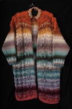 Heavy Hand Knitted Long Multicolour CARDIGAN - Fabulous 'dream coat'