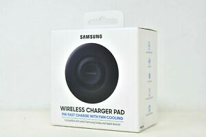 Samsung Wireless Charger Pad 9W Fast Charging with Fan Cooling - Black EP-P3105