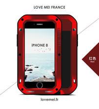 Coque Antichoc blindée iPHONE 8 - LOVE MEI FRANCE - étanche - ROUGE