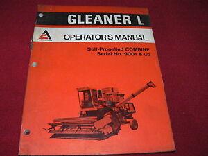 Allis Chalmers Gleaner L Combine Operator's Manual Manual