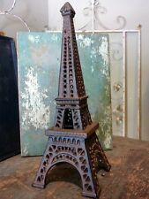 Paris Eiffel Tower Candle Votive Tealight Cast Iron Metal Holder Home Decor