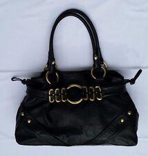 Womens Black 100% Cow Leather Via Spiga Shoulder Handbag (pre-owned)