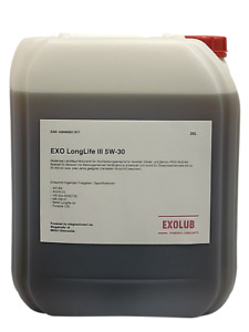 20 Liter EXO Longlife III 3 SAE 5W-30 20 L Motoröl VW 504.00/507.00