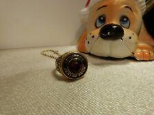 PRINCETON SENIOR PROM Garnet & GOLD Style Ring Pendant Charm ~ Dated 1981