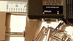 "No 9 x 3/4"" Bifurcated Rivets Mild Steel Split Leg Nickel Plated Metal Fastener"