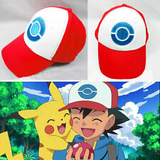 ASH Ketchum Pokemon Hat Trainer Cap Embroidered Kids Anime Baseball Cosplay Hat