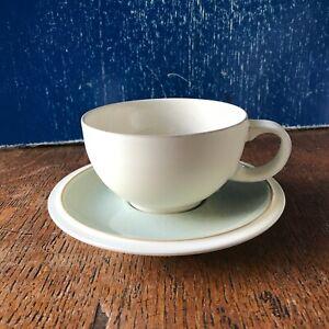 Denby Energy Breakfast Cup 10.3cm d, 6cm H & Saucer 15.7cm diam Post £3.20 for 2
