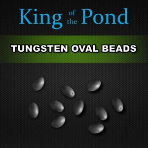 Oval Tungsten beads / sinkers x10 -  carp fishing, carp rigs, naked chod