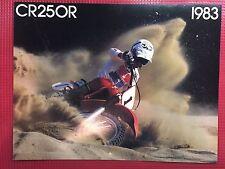 1983 Honda CR250R Brochure New! Uncirculated!