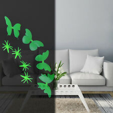 4Pcs Glow In The Dark Fluorescence Butterfly Stickers Decal Art Wall Home Decor
