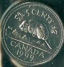 1999-PL Proof-Like Nickel 5 Five Cent '99 Canada/Canadian BU Coin Un-Circulated