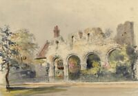 Ellis, Infirmary Chapel Ruins, Canterbury –Mid-19th-century watercolour painting