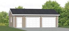 30x24 2-Car Garage -- 720 sqft -- PDF Floor Plan -- Model 1A