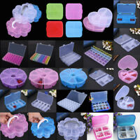 Clear Empty Storage Case Box Container Jewelry Nail Art Craft Tool Makeup Holder