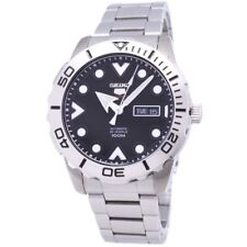 Seiko 5 Sports SRPA03 J1 Black Dial Stainless Steel Men's Automatic Analog Watch
