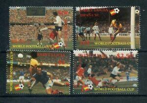 St. Lucia 1982 563-66 Coppa del Mondi di calcio in Spagna mnh