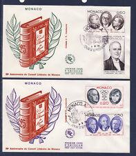 MONACO   enveloppe 1er jour  fondation du conseil littéraire     1976