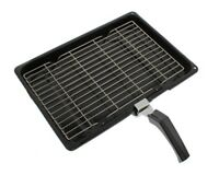 Oven Cooker Grill Pan Complete With Rack & Detachable Handle For Stoves