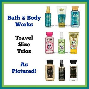 Bath & Body Works Travel Set Lots: Mist Lotion Gel or Cream Exactly as Pictured!