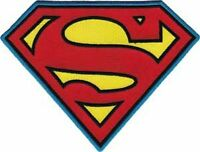 SUPERMAN - CLASSIC LOGO - LARGE EMBROIDERED PATCH - BRAND NEW - 0187