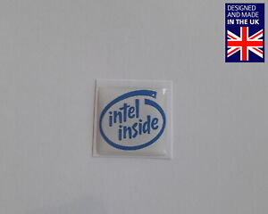 "Intel Inside 25 x 25mm 1"" Domed PC Case Badge Logo Decal Celeron Xeon Pentium"