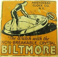 .`ORIGINAL c1930's ARISTOCRAT Co, BILTMORE POCKET WATCH BOX.