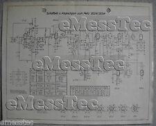 METZ Typ 302, 303 W Schaltplan Ausgabe 2, Stand 12/51